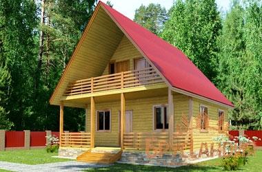 БД-61 Деревянный дом 8х7 м