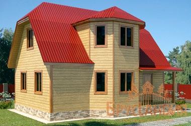 БД-79 Деревянный дом 9x7 м