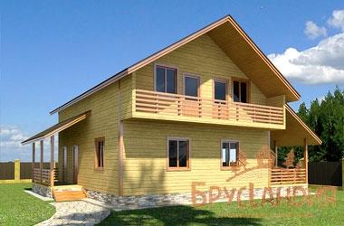 БД-42 Деревянный дом 9х8  м