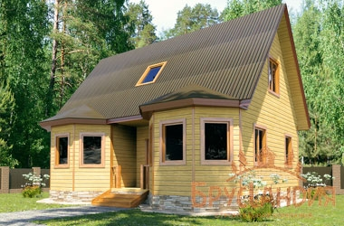 БД-66 Деревянный дом 7х9 м
