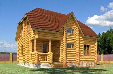 СД-1 Дом из бревна 9х7 м